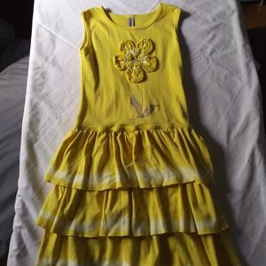 Other - Girls yellow flower tie dye Mignone dress sz 8